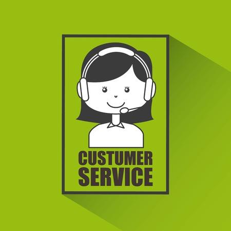 call centre girl: customer service design, vector illustration eps10 graphic Illustration