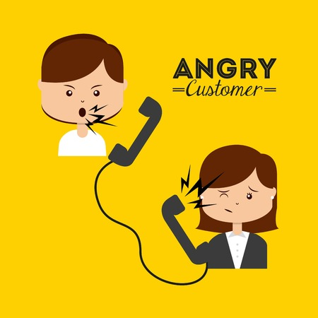 unsatisfied: angry customer design, vector illustration eps10 graphic