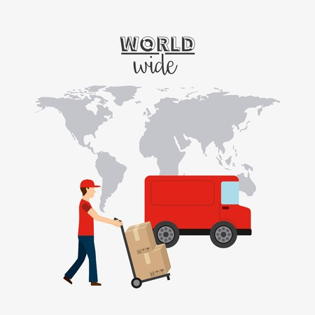 fleet: delivery service design, vector illustration eps10 graphic