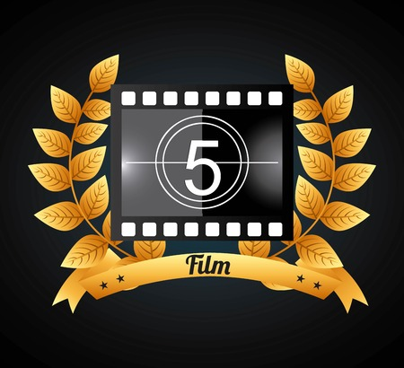 gold leafs: film award design, vector illustration eps10 graphic