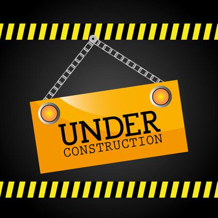commercial construction: Under construction design, vector illustration eps 10.