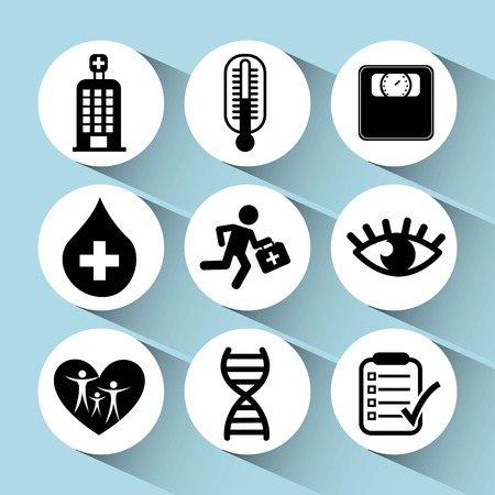 medical icons design, vector illustration eps10 graphic Stock Illustratie