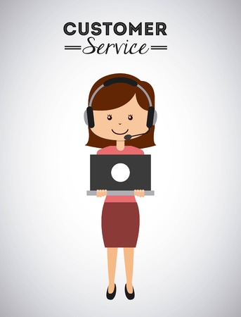 customer service design, vector illustratie eps10 grafische Stock Illustratie