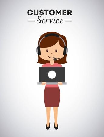 Kunden-Service-Design, Vektor-Illustration eps10 Grafik