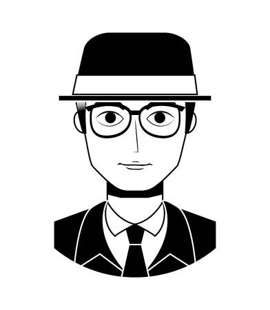 forties: old gentleman design, vector illustration eps10 graphic