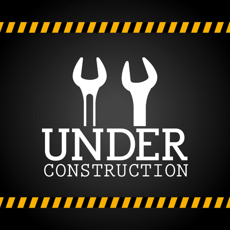 under construction sign: Under construction design, vector illustration eps 10.