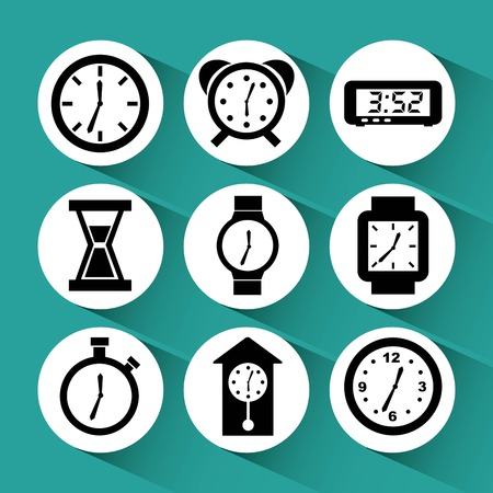 ding dong: time icons design, vector illustration eps10 graphic