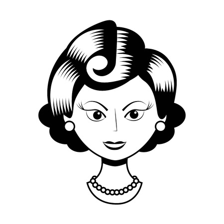 forties: old lady design, vector illustration eps10 graphic Illustration