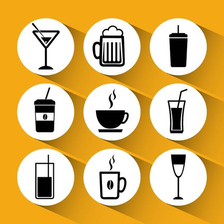 simplus: drinks icons design, vector illustration eps10 graphic
