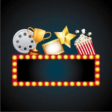 famosos: diseño de concesión de la película, ejemplo gráfico del vector eps10 Vectores