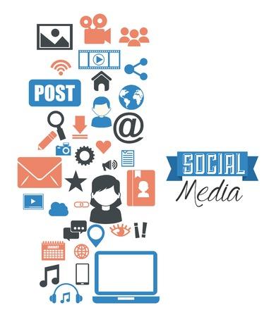 medios de comunicaci�n social: dise�o de medios de comunicaci�n social, ejemplo gr�fico del vector eps10