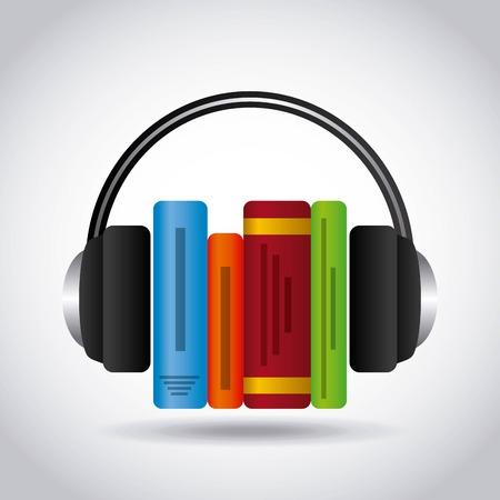 audio book: audio book design, vector illustration eps10 graphic