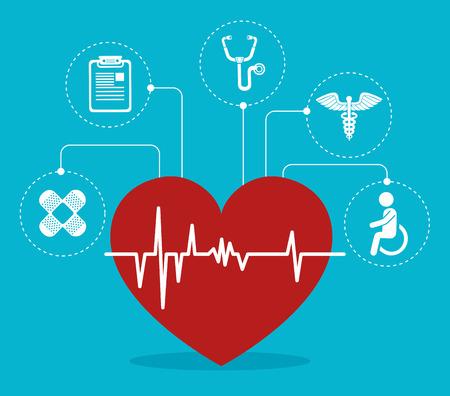 medical heart: Medical healthcare design, vector illustration eps 10.