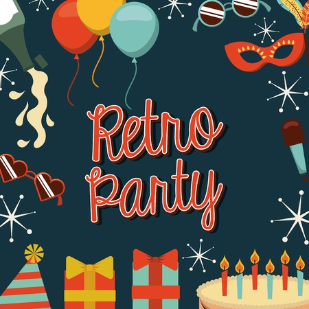 event party: retro party design, vector illustration eps10 graphic