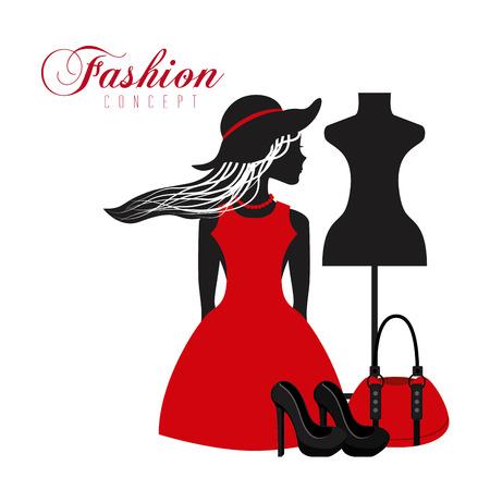 feminine fashion design, vector illustration eps10 graphic Vettoriali