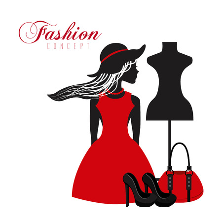 feminine fashion design, vector illustration eps10 graphic Stock Illustratie