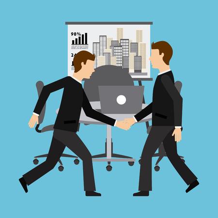 office worker: team work design, vector illustration eps10 graphic