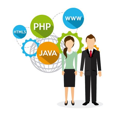 meta tags: programming language design, vector illustration eps10 graphic