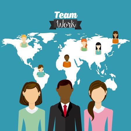 team work design, vector illustration eps10 graphic