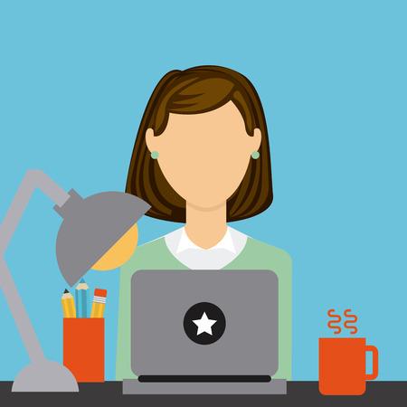 woman laptop: business concept design, vector illustration eps10 graphic