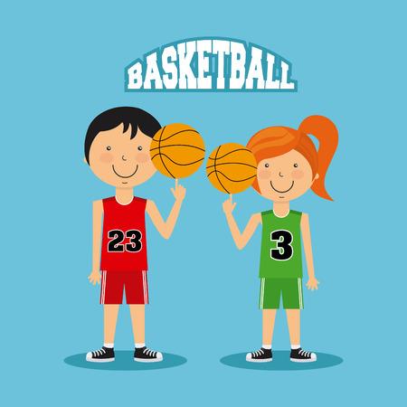balon baloncesto: dise�o deportivo gente, ejemplo gr�fico vectorial eps10