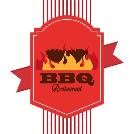 carnicería: carnicería diseño de la tienda, ilustración vectorial gráfico eps10 Vectores