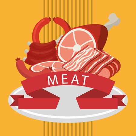 carniceria: carnicería diseño de la tienda, ilustración vectorial gráfico eps10 Vectores