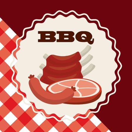 carniceria: el diseño de productos de carnicería, ilustración vectorial gráfico eps10