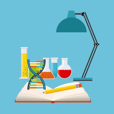lab test: science concept design, vector illustration eps10 graphic Illustration