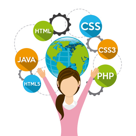 meta: programming language design, vector illustration eps10 graphic