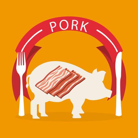 carnicer�a: el dise�o de productos de carnicer�a, ilustraci�n vectorial gr�fico eps10