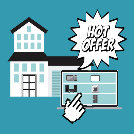 house clearance: hot offer design, vector illustration eps10 graphic