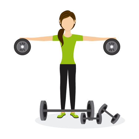 physical exercise: people sport design, vector illustration eps10 graphic