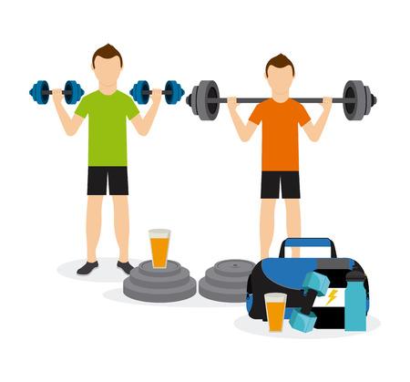workout gym: people sport design, vector illustration eps10 graphic