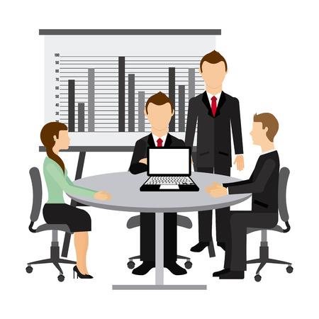 trabajo social: dise�o de trabajo en equipo, ejemplo gr�fico del vector eps10