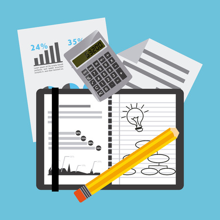 business planning: business planning design, vector illustration eps10 graphic