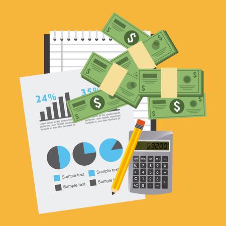 deed: monetary affairs design, vector illustration eps10 graphic