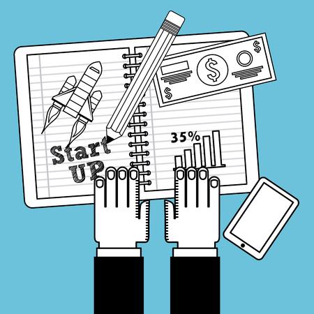 planificacion: dise�o de la planificaci�n de negocios, ilustraci�n vectorial gr�fico eps10