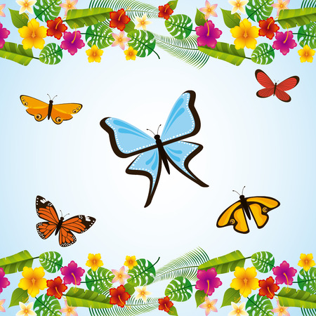 flores tropicales: tropical flowers design, vector illustration eps10 graphic