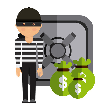 stealing: stealing money design, vector illustration eps10 graphic Illustration