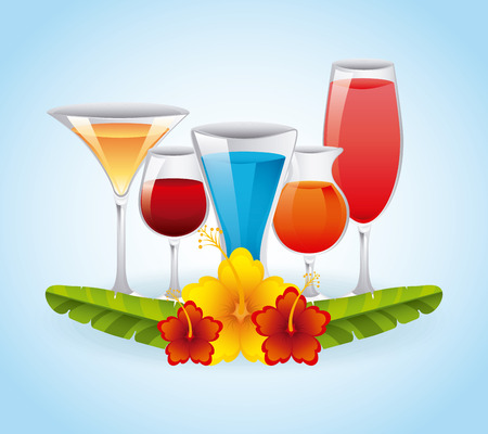 tropical cocktail design, vector illustration eps10 graphic