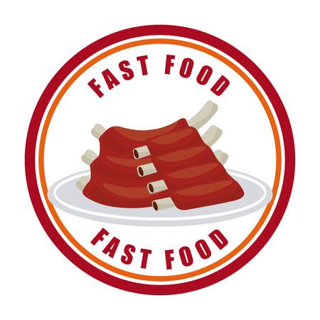 unhealth: fast food design, vector illustration eps10 graphic
