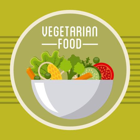 vegetarian food: vegetarian food design, vector illustration eps10 graphic