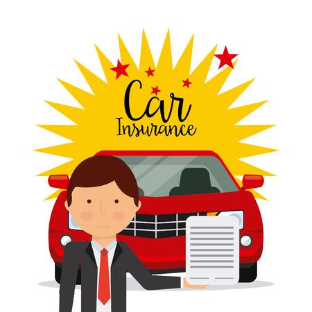 seguros autos: dise�o de seguro de autom�vil, ilustraci�n vectorial gr�fico eps10 Vectores