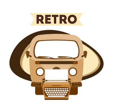 typewrite: retro lifestyle design, vector illustration eps10 graphic