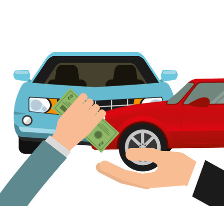 car bills: car insurance design, vector illustration eps10 graphic Illustration