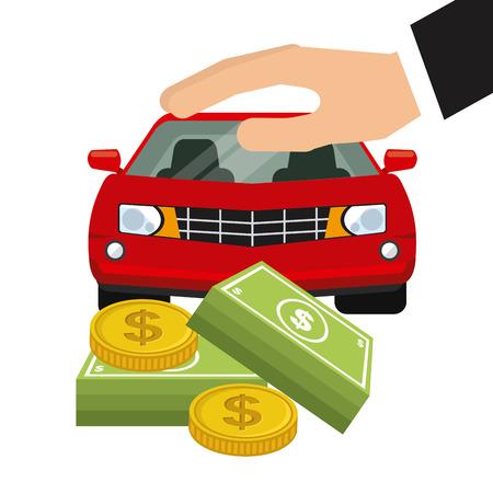 car bills: car insurance design, vector illustration eps10 graphic Illustration