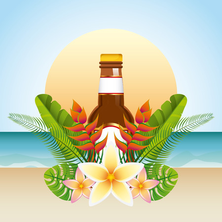 tropical drink: tropical drink design, vector illustration eps10 graphic Vectores