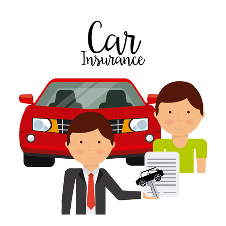 car salesperson: car insurance design, vector illustration eps10 graphic Illustration