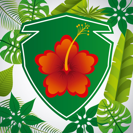 tropical flower: tropical flower design
